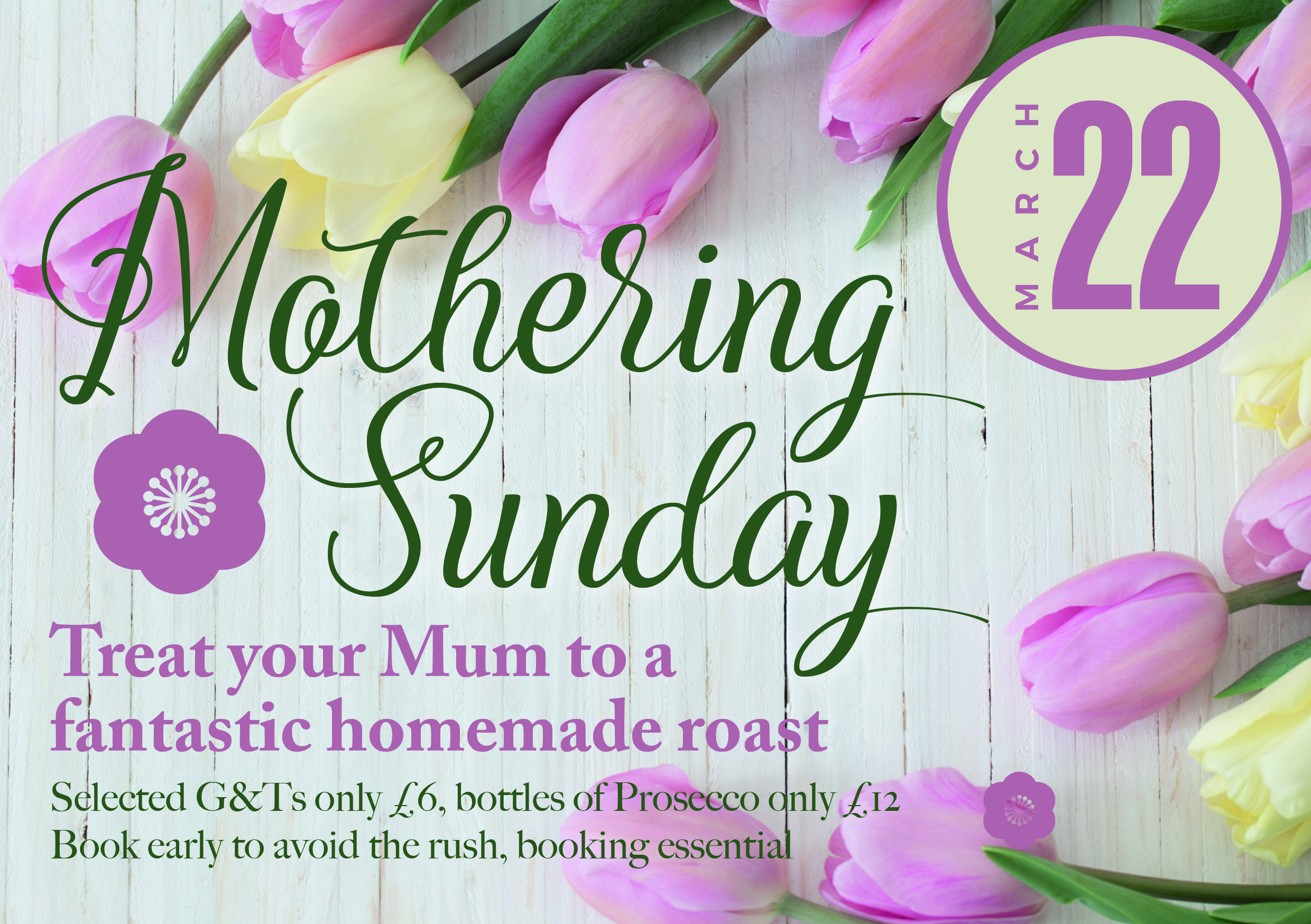 Mothering Sunday – March Event