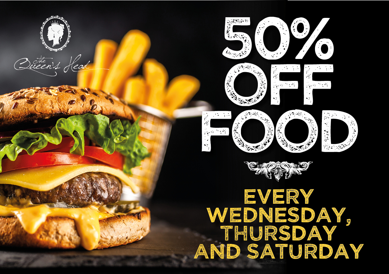 50% Off Food This October!