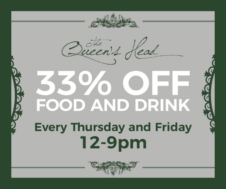 33% Off Food and Drink this September!