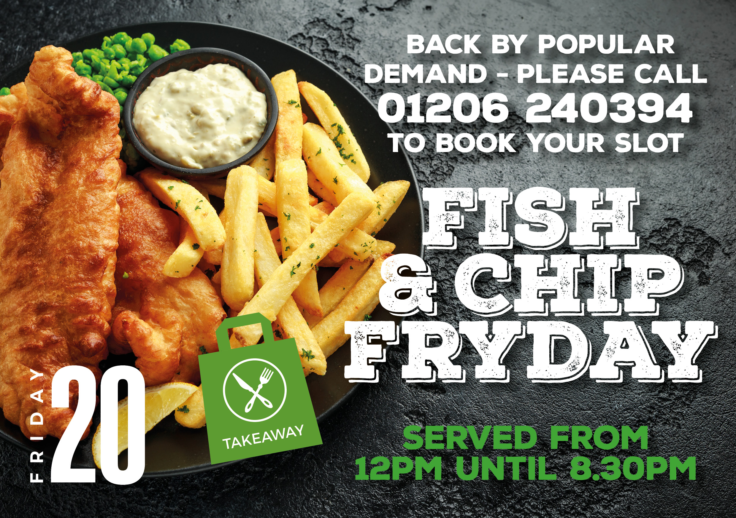 Fish and Chips Fryday Menu