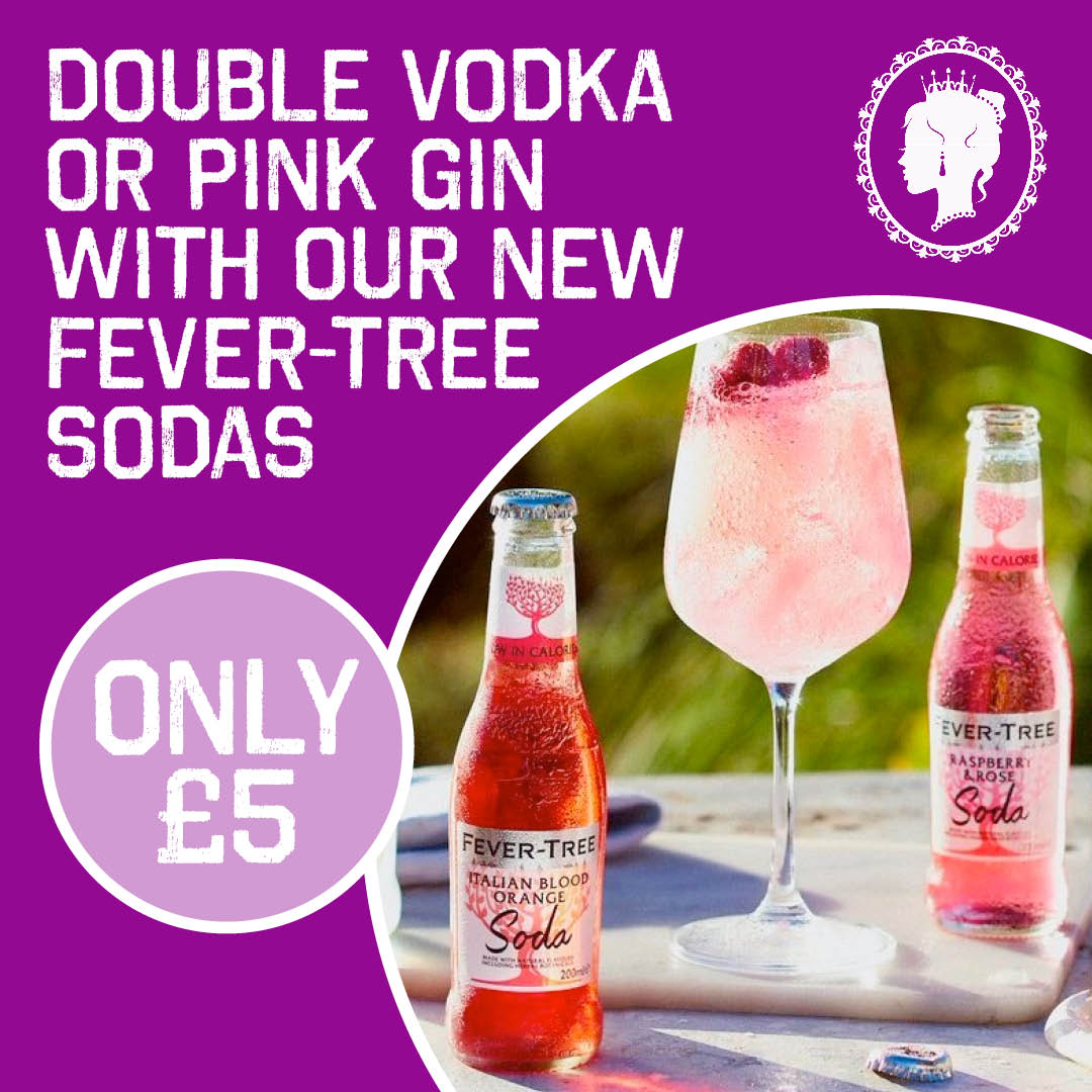 Enjoy a Double Vodka or Pink Gin with Fever-Tree Soda for just £5